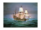 Francis Drake Sailed His Ship Golden Hind into History Giclee Print