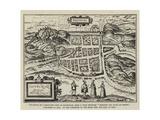 Fac-Simile of a Bird'S-Eye View of Edinburgh Giclee Print