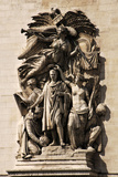 France. Paris. Arc De Triomphe. Le Triomphe by Jean-Pierre Cortot. This Group Features Napoleon Photographic Print