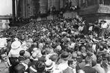 Crowds Gathering at the German Reichstag Following the Announcement of the Outbreak of Wwi Photographic Print