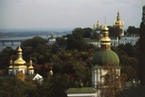 Domes of Kiev Pechersk Lavra Monastery or Kiev Monastery of Caves (Unesco World Heritage List Giclee Print
