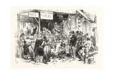 Franco-Prussian War: on the Market of St. Germain. at the Dogs and Cats Butcher. Fresh Rats Giclee Print