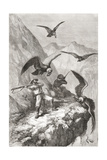 Édouard François André and Companion Being Attacked by Condors Near Calacali Giclée-Druck