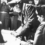 Hans Georg Von Friedeburg Signing the Surrender of the Wehrmacht in Northern Europe in General Mont Photographic Print