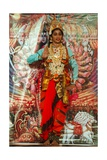 Female Bharata Natyam Dancer on Stage Performing Episode from the Ramayana Epic Giclee Print