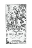 Frontispiece of De Monarchia Hispanica (The Monarchy of Spain) Giclee Print