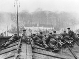 Government Soldiers Guard Charlottenburger Chaussee from the Brandenburg Gate During the Weihnachts Photographic Print