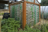Greenhouse Made from Recycled Plastic Bottles Photographic Print