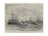 Inspection of the Italian Squadron at Spithead by the Prince of Wales on 13 July Giclee Print