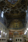 Italy. Rome. the Basilica of Saint Clement. Interior of the Second Basilica and the Apse Mosaic Photographic Print