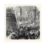 Launch of the Screw-Corvette Druid at Deptford Dockyard Giclee Print