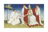 Maffeo and Nicolo' Polo Brothers Delivering a Message from the Great Khan to Pope Gregory X Giclee Print