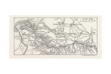 Map of the Course of the Wharfe Giclee Print