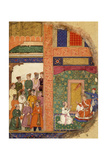 King Dasaratha Conversing with the Family Priest About Rama's Regency Inside the Palace Giclee Print