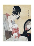 Mother Breastfeeding Her Son Giclee Print