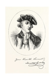 Portrait and Autograph of General Horatio Gates Giclee Print