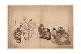 Manzai O Miru Josei[Fujo] to Kodomo Giclee Print