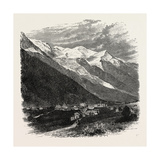 Mont Blanc (The Loftiest Peak in the Alps). Mont Blanc or Monte Bianco (Italian) Giclee Print