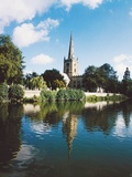 River Avon and Holy Trinity Church Giclee Print
