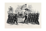 Review of Federal Troops on the 4th of July by President Lincoln and General Scott Giclee Print