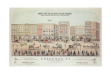Poster of a View of Broadway Giclee Print