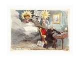 Smelling Out a Rat; or the Atheistical-Revolutionist Disturbed in His Midnight Calculations Giclee Print