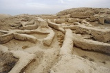 Ruins of Building under Mari Ziggurat (Modern Tell Hariri) Photographic Print