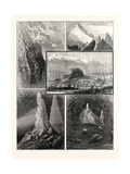 Salzburg and its Mountain Scenery: 1. Path on the Geiereck. 2. Mountain Precipices Giclee Print