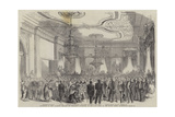 Reception of the Japanese Embassy by President Buchanan in the East Room of the White House Giclee Print