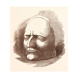 Posthumous Mask of Sir Isaac Newton Giclee Print