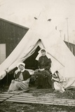 Sister Eleanor Wibmer Jeffries and Sister Nellie Constance Morrice (Right) Outside their Tent at No Giclee Print