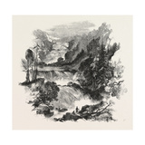 The Canadian Red River Exploring Expedition: Great Falls on Little Dog River Giclee Print