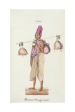 The Bell Man of Benares Giclee Print