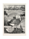 Stralsund from the Harbour. the Zerkluftete Wand Giclee Print