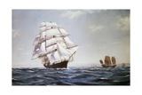 The British Clipper Cutty Sark Sailing Off Coast of China Giclee Print