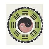 Taoist Symbol of Yin and Yang Giclee Print