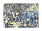 The Last Bare Knuckle Boxing Championship Fight in 1889 Giclee Print