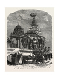 The Car of Juggernaut. Hindu Ratha Yatra Temple Car Giclee Print