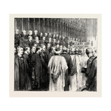 The Funeral of the Late Right Hon. W.H. Smith: the Memorial Service in Westminster Abbey Giclee Print