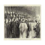 The Funeral of the Late Right Honourable W H Smith Giclee Print