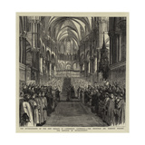 The Enthronement of the New Primate in Canterbury Cathedral Giclee Print