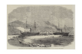 The English and Newfoundland Mail Vessels Making their Way Through the Ice in Halifax Harbour Giclee Print