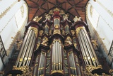 The Organ in St-Bavokerk Church or Grote Kerk Photographic Print