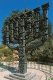 The Menorah in Front of the Knesset (Israeli Parliament) Photographic Print