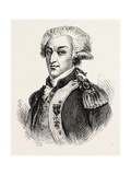 The Marquis De Lafayette Led Troops Alongside George Washington in the American Revolution Giclee Print