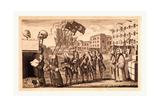 The Repeal or the Funeral of Miss Ame=Stamp Giclee Print