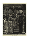 The Marriage of Mr Leopold De Rothschild and Mademoiselle Marie Perugia in the Central Synagogue Giclee Print