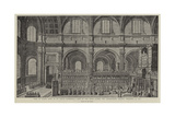 Visit of Queen Anne to St Paul's Cathedral Giclee Print