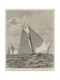 Yacht-Race for the America Cup Giclee Print