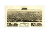 Bird's Eye View of Cheyenne, Wyo., County Seat of Laramie Co. 1882, USA, America Giclee Print